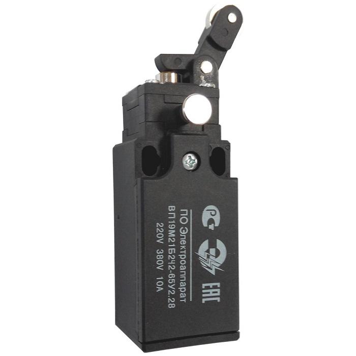 Выключатель путевой ВП19М-21Б-242-65У2.28 Рычаг с роликом (с фиксатором)